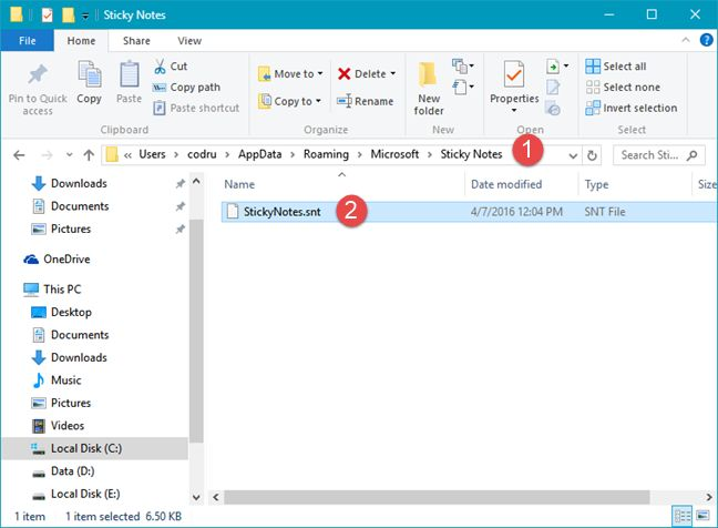Sticky Notes, Windows, OneDrive, Dropbox, synchronize, Steam Mover