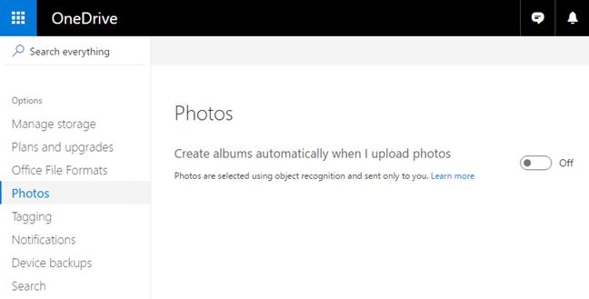 OneDrive, photo, albums