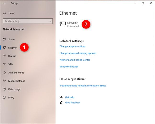 Abrir la página de configuración de una conexión de red
