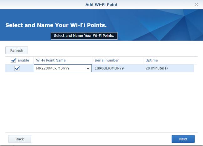 Adding a Synology MR2200ac WiFi point