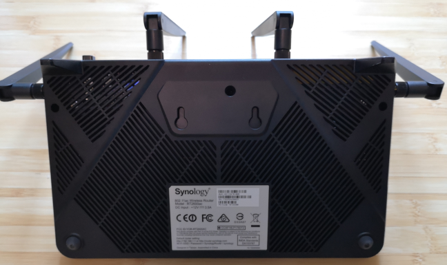 The bottom of the Synology RT2600ac