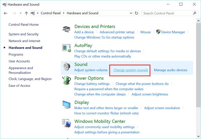 disable, system, beep, sound, annoying, Windows