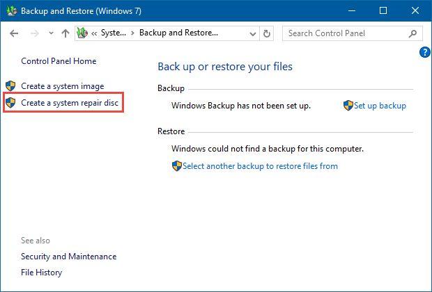 Windows, System Repair, disc