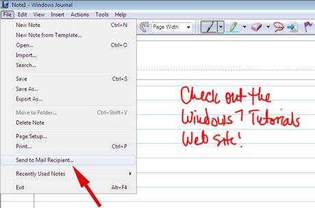 Windows Journal, Tablet Input Panel