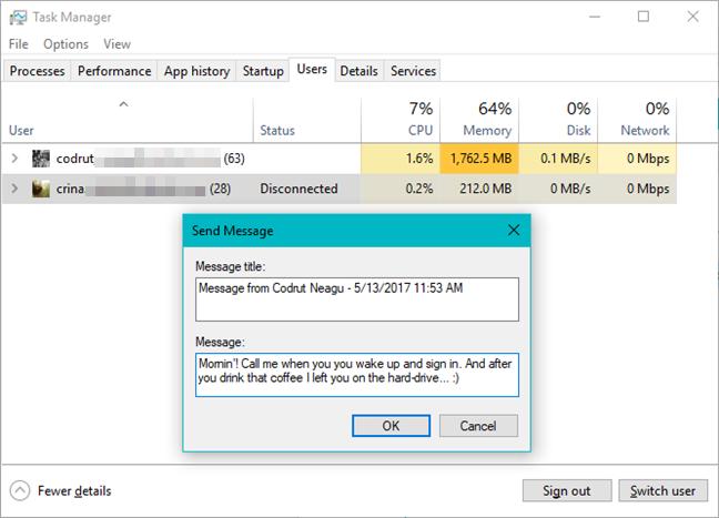 Task Manager, Windows