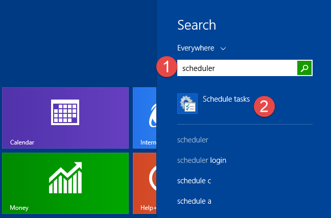 Task Scheduler, Windows