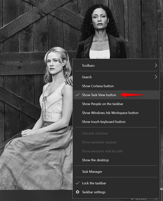 Show Task View on your taskbar