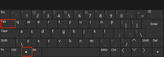 Open Task View with a keyboard shortcut