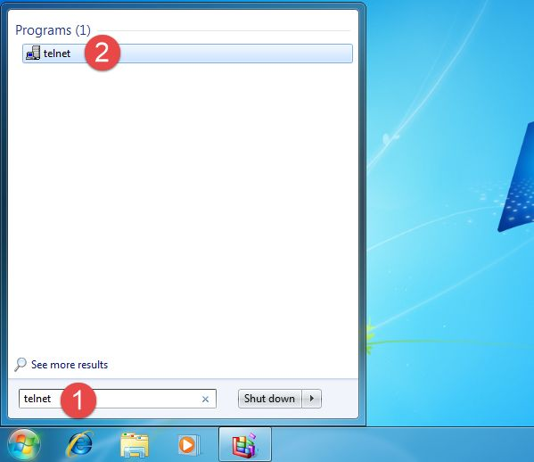 Telnet client, install, start, commands, connect, server, disconnect, Windows