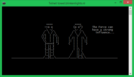 Telnet Client, fun, geeky, Star Wars
