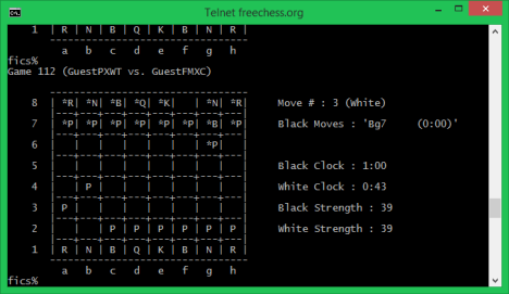Telnet Client, fun, geeky, play, chess