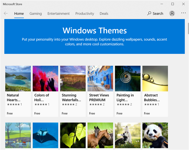 Discover new Windows themes