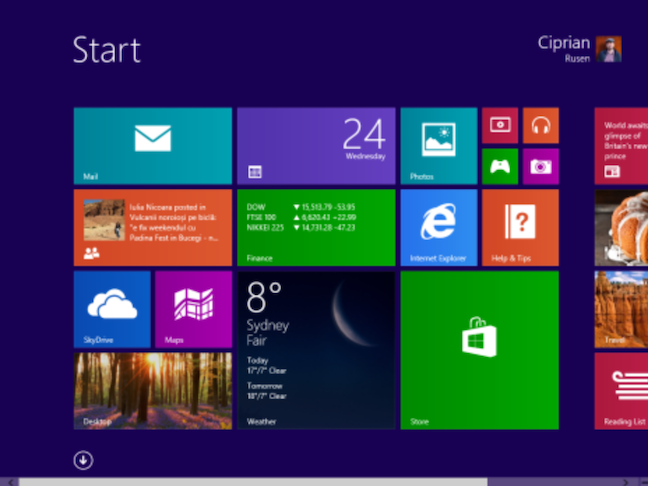 The Start screen in Windows 8 which many people disliked