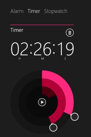 Windows 8.1, Alarms app, timer, stopwatch, create, delete