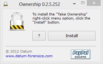 Take Ownership, right click, Windows 7, Windows 8, explorer