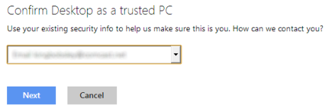 Windows 8 - Trust this PC