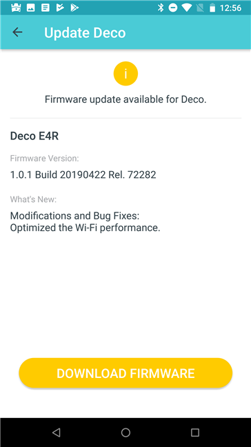 Updating the firmware for TP-Link Deco E4