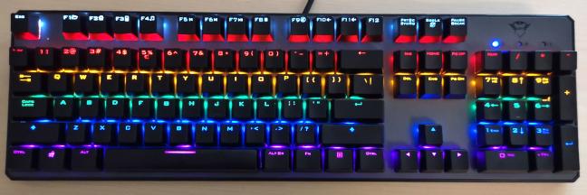 The Trust GXT 865 Asta mechanical keyboard