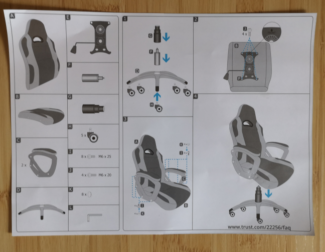 Trust GXT 705 Ryon - the user manual
