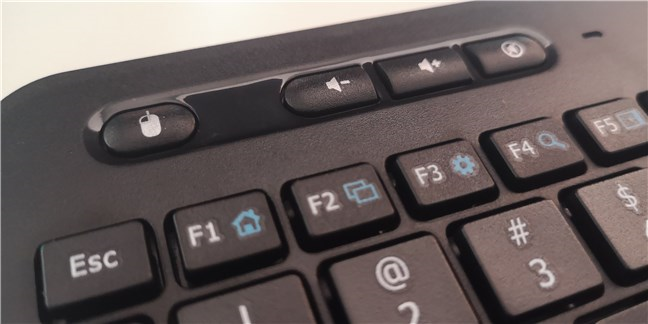 The volume keys found on the Trust Veza wireless keyboard