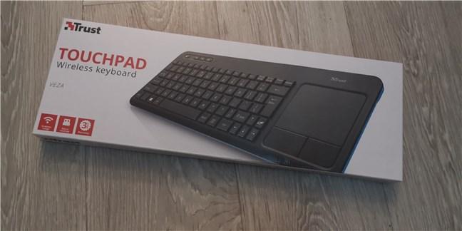 Trust Veza wireless keyboard: The box