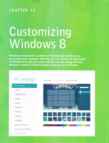 Book Review - Teach Yourself Visually Windows 8