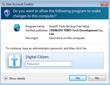 UAC, User Account Control, Windows