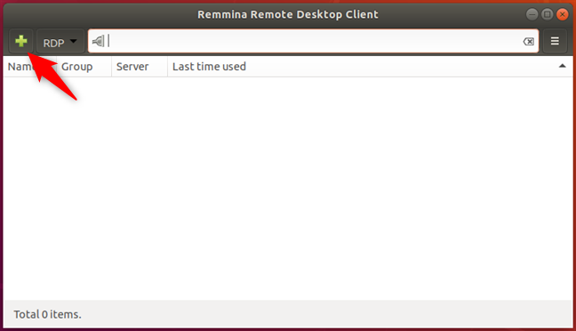 Create a new connection in Remmina Remote Desktop Client