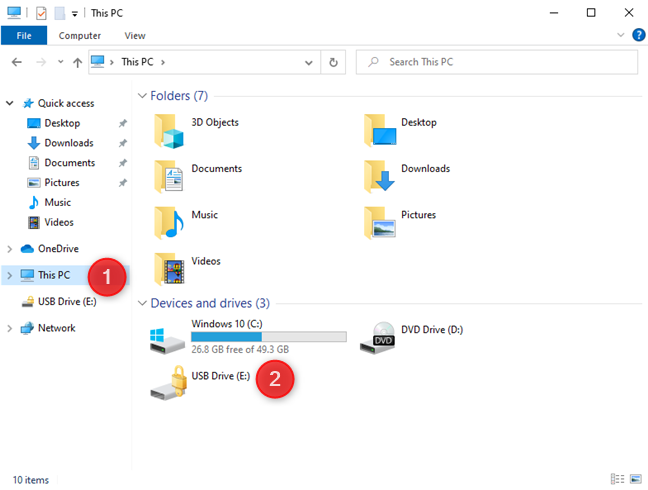 Access the BitLocker drive from File Explorer
