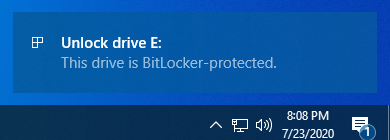 This drive is BitLocker-protected