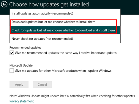Windows Update, PC Settings, Windows 8.1, install, view, configure, updates