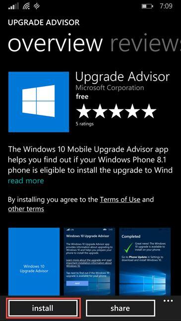 update, upgrade, Windows Phone 8.1, Windows 10 Mobile, Upgrade Advisor