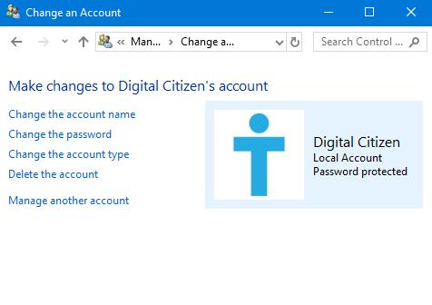 User account, Windows