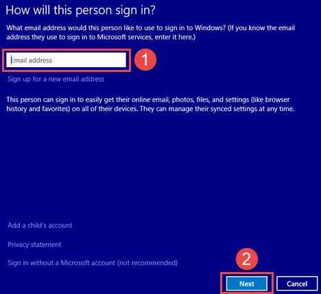 Windows 8.1, user, accounts, new, local, Microsoft, switch, create