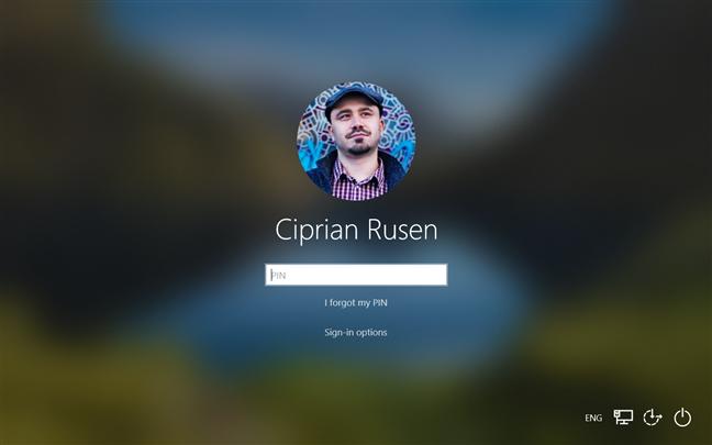 La pantalla de inicio de sesión de Windows 10
