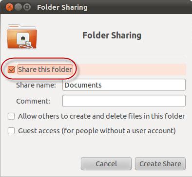 Ubuntu Sharing