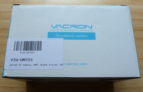 Vacron, VIG-UM723, surveillance, network, camera