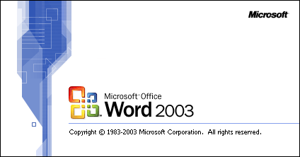 Starting Word in Office 2003