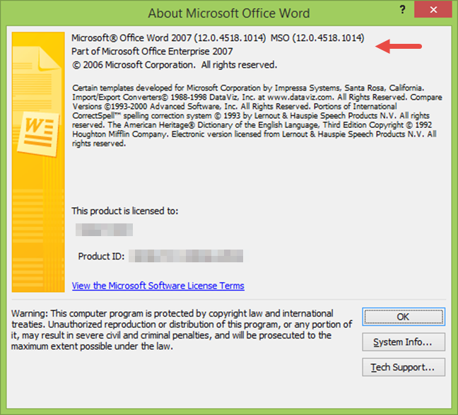 About Microsoft Word 2007