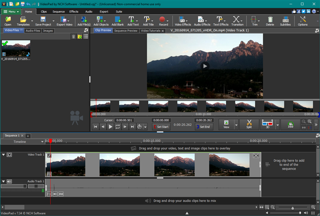 VideoPad Video Editor: un reemplazo de Windows Movie Maker