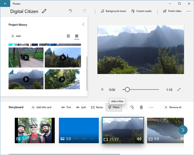 Video Editor lets you add filters to videos and images