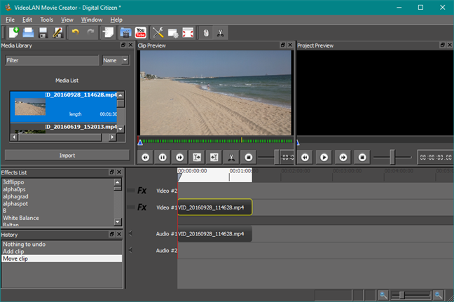 VideoLAN Movie Creator: un reemplazo de Windows Movie Maker