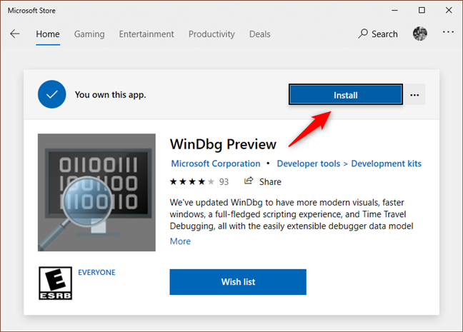 Installing WinDbg Preview