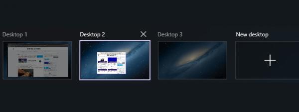 Windows 10 desktops
