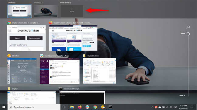 Create multiple desktops in Windows 10