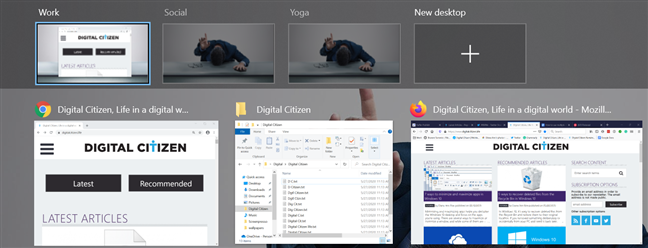 Renaming makes it easier to find the right virtual desktop