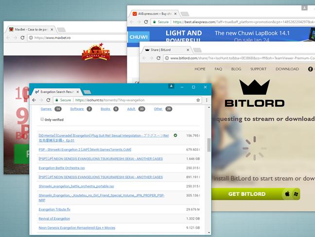 viruses, malware, ransomware