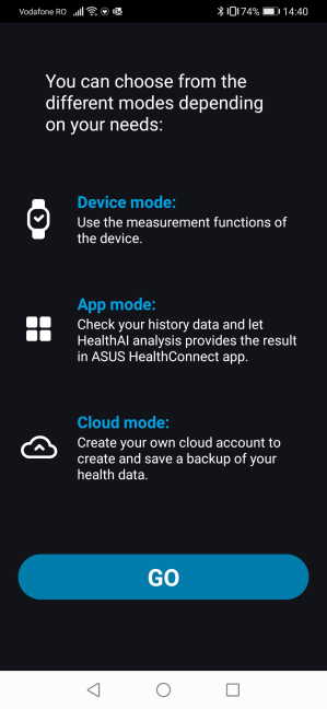 Setting up the ASUS HealthConnect app