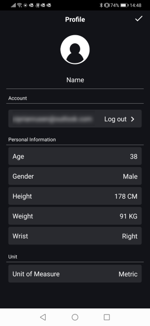 Setting up your profile in the ASUS HealthConnect app
