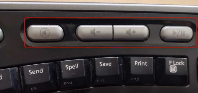 Use the multimedia keys on your keyboard
